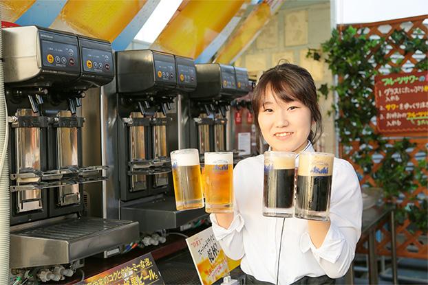 生ビールと黒生ビール,キンキンに冷えたビールが飲める,雨の日の場合はキラリへ!, 近鉄ビアガーデン,橿原ビアガーデン,八木ビアガーデン, 近鉄大和八木駅ビアガーデン,奈良ビアガーデン,